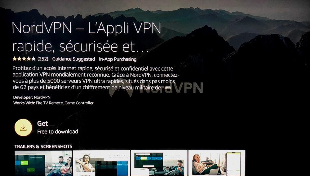 NordVPN App Details Page - Fire Stick