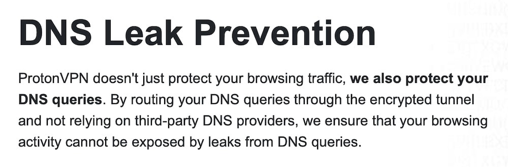 ProtonVPN DNS Leak Protection