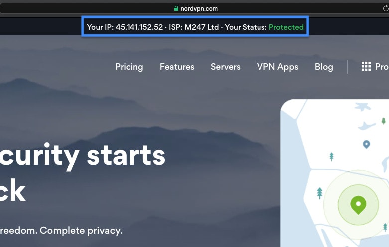 NordVPN IP in firestick