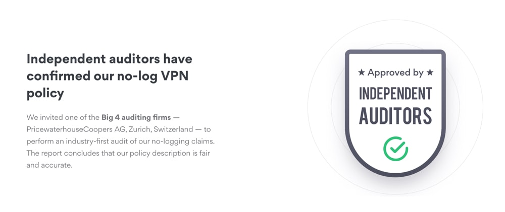 NordVPN logging policy auditors