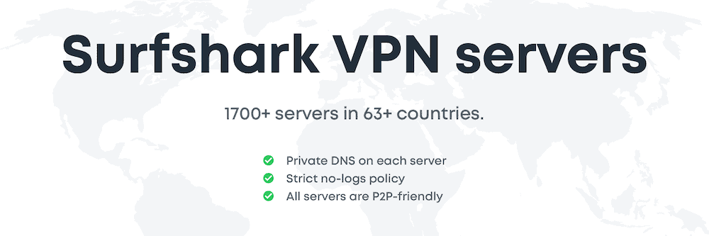 Surfshark P2P Servers