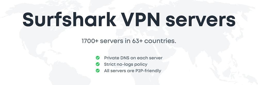 Surfshark P2P Servers