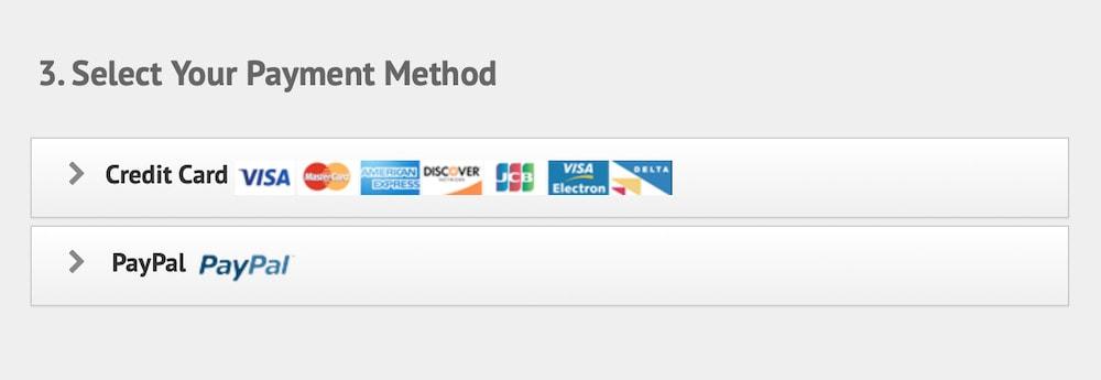 IPVanish payment methods