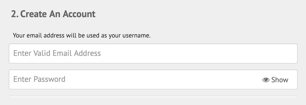 IP Vanish Sign-up